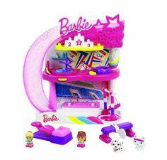 "Squinkies Barbie Playset Set - Gymnast Studio - Blip Toys - Toys ""R"" Us Gymnastics Funny, Gymnastics Birthday, Barbie I, Barbie House, All Toys, Toys R Us, Project Mc2, Pink Slides, Balance Beam"