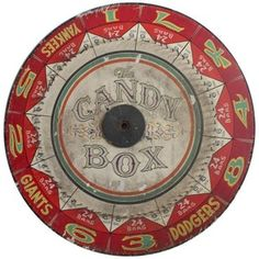 1stdibs   1930's New York's Team Game Wheel   Carnivals and Circus