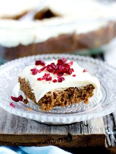 GIngerbread brownies with a luscious white chocolate cream cheese frosting and a dash of cranberry to start the holiday season off right.