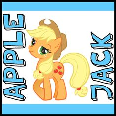 Step 400x400 apple jack my little pony How to Draw Apple Jack from My Little Pony with Easy Step by Step Drawing Tutorial