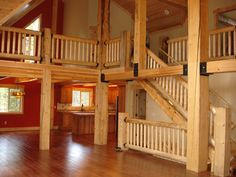 Log Cabin Interiors | California log home kits and pre built log homes, custom Interior ...