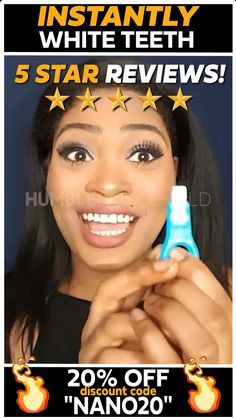 Use code NANO20 for an additional 20% off at checkout! Using revolutionary nano technology, our whitening kit will instantly remove surface stains from your teeth, giving you an amazing white smile in seconds!! Think of it as the Magic Eraser, except for your teeth!
