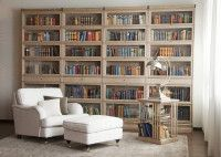 wall to wall lawyer's bookcase with center drawer Library Study Room, Dream Library, Barrister Bookcase, Bookcases, Decorating Bookshelves, Home Libraries, Cozy Nook, Spacious Living Room, Book Nooks