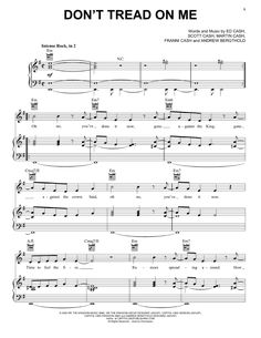 Preview We The Kingdom Don't Tread On Me Christian sheet music, notes and chords for Piano, Vocal & Guitar (Right-Hand Melody), SKU: 448550