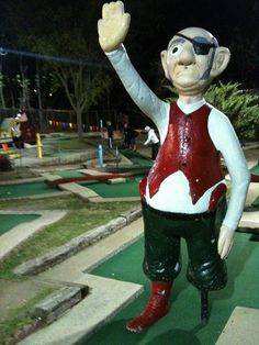 This mini golf pirate does his best to deter your game. #minigolf