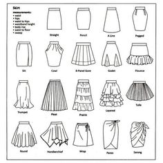 From tulle to pencil Skirts infographic Fashion infographic