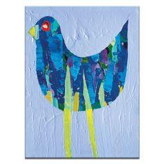Mauve Bird by Anna Blatman Painting Print on Canvas