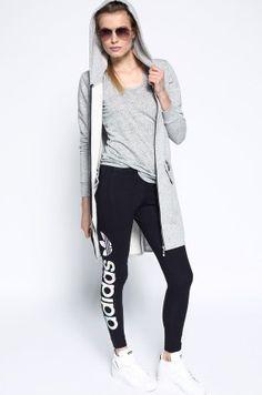 Spodnie damskie dresowe - adidas Originals - Legginsy Linear