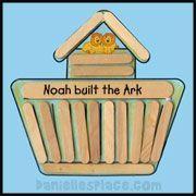 Noah's Ark Craft Stick Craft from www.daniellesplace.com