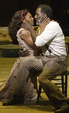 Audra McDonald and Norm Lewis, both Tony-nominated for their leading roles in The Gershwins' Porgy and Bess