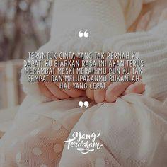 Mungkin hati ini bukanlah tempatmu untuk menetap. . Follow @HijrahCinta_ @HijrahCinta_ #berbagirasa #yangterdalam #quote #poetry #poet #poem #puisi #sajak Happy Quotes, Best Quotes, Love Quotes, Inspirational Quotes, Falling Apart Quotes, Quotations, Qoutes, Cinta Quotes, Quotes Indonesia