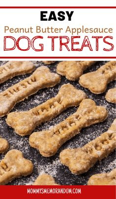 Make your own dog treats with this easy Peanut Butter Applesauce Dog Treats recipe. Fido will love the crunch and flavor! Make your own dog treats with this easy Peanut Butter Applesauce Dog Treats recipe. Fido will love the crunch and flavor! Dog Cookie Recipes, Easy Dog Treat Recipes, Homemade Dog Cookies, Dog Biscuit Recipes, Homemade Dog Food, Healthy Dog Treats, Dog Food Recipes, Homeade Dog Treats, Healthy Food