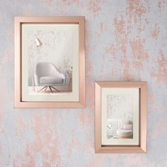 Use grey and rose gold metallic wallpaper to add vibrancy to your home. Metallic Wallpaper, Wallpaper, Wall Colors, Contemporary Decor, Feature Wall, Room Decor, Love Wallpaper, Grey Roses, Rustic Interiors