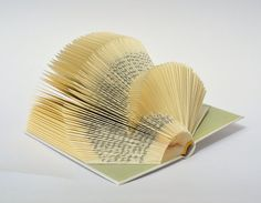 little Book Sculpture No. 150  altered book art by PaperStatement