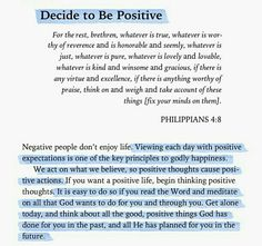 Stay positive God wants you to be happy
