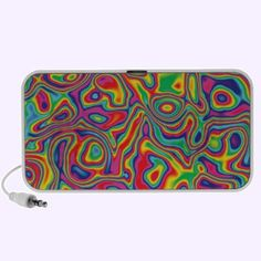 Psychedelic Rainbow Oil Pattern Pc Music Speakers $44.95