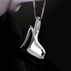 A sparkly pendant necklace for anyone who wouldn't be caught dead wearing flats.