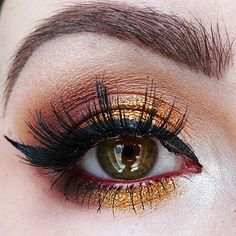 @ardell_lashes double stacked lashes in 203  @nyx @nyxcanada matte liquid eyeliner and jumbo eye pencil in rust @maccosmetics glitter @tartecosmetics tartelette in bloom palette  #eyemakeup #makeup #beauty #lashes