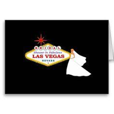 BRIDAL Shower In Las Vegas Card