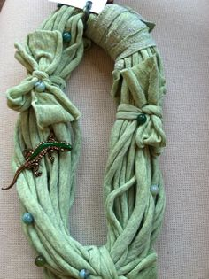 Green Trish's Twisteds with a great lizard pin....$24.00