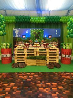 Somos uma empresa de decoração de festas infantis em Recife. Pensamos em tudo com muito amor e dedicação, para que sua festa seja inesquecível. 4 Year Old Boy Birthday, Boy Birthday Parties, 7th Birthday, Mine Craft Party, Minecraft Birthday Invitations, Minecraft Birthday Cake, Minecraft School, Minecraft 1, Minecraft Party Decorations