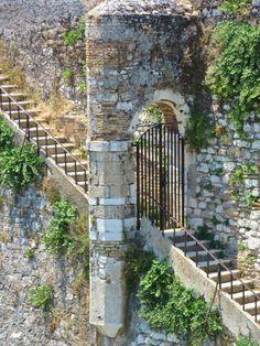 vwcampervan-aldridge: Steps from Old Fort walls, Corfu Town,. Corfu Town, Corfu Island, Corfu Greece, Old Fort, Santorini, Entrance, Places To Go, Greek, Castle