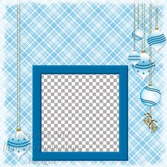 """Layout QP 23D.....Quick Page, Blue, Digital Scrapbooking, Christmas Time Collection, 12"""" x 12"""", 300 dpi, PNG File Format"""