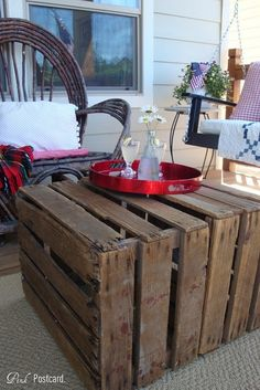 May need to start collecting wood palettes to make tables for the decks if we get the Edam house #Outdoors #DIY