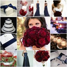 Wedding, Inspiration, Board, Navy, Cranberry surprisingly love the colors