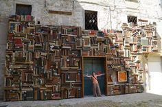 Italy, Pesaro by ~Sunchos Italy Street, Beautiful Library, Book Wall, Through The Looking Glass, Turin, My Dream Home, Facade, Adventure, Places
