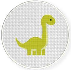 Artículos similares a Cute Dino PDF Cross Stitch Pattern Needlecraft - Instant Download - Modern Chart en Etsy