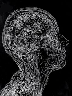 Angela Palmer takes MRI and CT scans and etches them onto a sheet of glass, over and over. Then she stacks them to make a engraved glass portrait of the brain. Art Sketches, Art Drawings, Brain Art, A Level Art, Anatomy Art, Wow Art, Human Art, Psychedelic Art, Dark Art