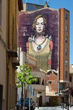 Dulcinea Lúcida locura - Milu Correch Mural in Quintanar de la Orden