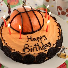 Beat the buzzer with a quick and easy basketball birthday cake! You'll score major points with this sporty birthday surprise.