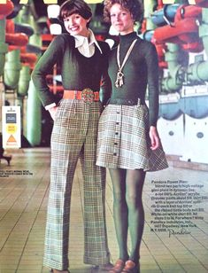 1972 Pandora - 1970s women's fashion with plaid skirts and pants