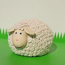 Baranek Wielkanocny Owieczka ozdoba stołu , Wielkanoc - inne Ceramic Fish, Ceramic Pottery, Ceramic Art, Sheep Art, Sheep Wool, Pottery Sculpture, Bird Sculpture, Clay Art Projects, Clay Crafts