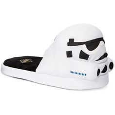 Bioworld Star Wars Storm Trooper Slippers ($25) ❤ liked on Polyvore featuring mens, men's shoes, men's slippers and white