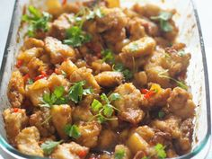 Hawaii, Chili, Pork, Ethnic Recipes, Sweet, Pineapple, Cilantro, Red Peppers, Kale Stir Fry