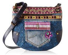 Bolso Desigual Brooklyn Exotic Jean por 55,96 euros #bolsos #bolsosdesigual #bolsosbaratos