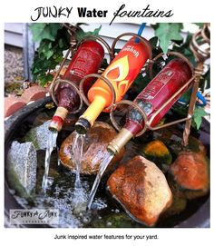 Garden Art.  This fountain + a few more cute yard ornaments