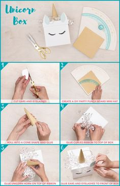 Unicorn Box project featuring the DIY Party Board by We R Memory Keepers