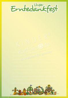 """Kindergarten Portfolio Vorlagen """"Unser Erntedankfest"""""""