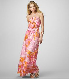 Pink and orange dress from Lily Pulitzer.