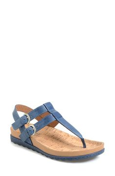 Børn 'Reta' Leather Thong Sandal (Women) available at #Nordstrom. But in gold, not blue