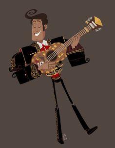Manolo from The Book of Life playing guitar!