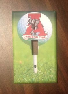 Alabama Crimson Tide Golf Light Switch Cover Great Gift for SEC Fans