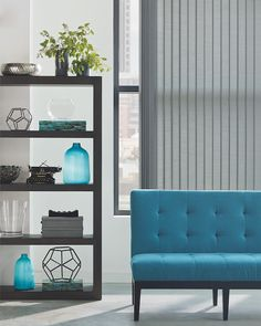 Visit our showroom to take advantage of our Hunter Douglas Sale. Starting April Beautifully functional, Hunter Douglas Custom Vertical blinds are a modern classic with a timeless yet completely up-to-date style. Indoor Blinds, Patio Blinds, Diy Blinds, Bamboo Blinds, Privacy Blinds, Blinds Ideas, Living Room Blinds, Bedroom Blinds, House Blinds