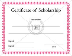 most useful scholarship certificate templates for the winners download certificate templates - Scholarship Certificate Template