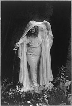 Modern dance pioneer Loie Fuller (1869-1928), 1896. Via the Library of Congress.