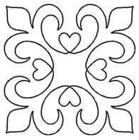 FMQ  fleur de lis- do loop in place of heart